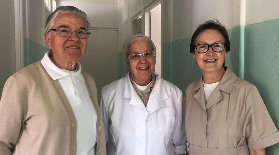 Sor Gloria, Sor Maria Luisa y Sor Magdalena, Hijas Caridad en Temara - Foto: Blanca Ruiz (ACI Prensa)